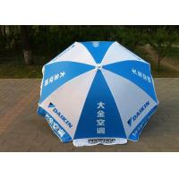 Quality Commercial Advertisement Custom Printed Parasols , Outdoor Patio Umbrellas for sale