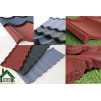 Quality Building mateiral Stone Chip Coated Metal Roof Tiles 0.38mm - 0.50mm Thickness for sale
