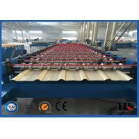 Buy PLC Control Roof Roll Forming Machine , Metal Roof Panel Roll Former Machine at wholesale prices