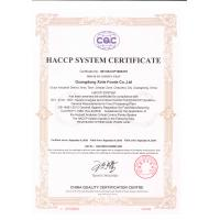 Guangdong Xinle Foods Co.,Ltd. Certifications