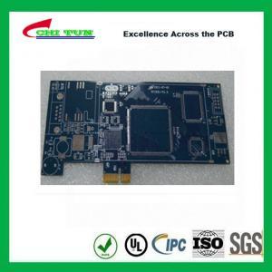 Quality Blue Multilayer PCB Board 6l fr4 1.6MM LF HASL + GOLD FINGER for sale