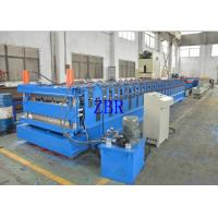 Quality Wall Panel Roll Forming Machine , Tile Roof Making Machine Galvanized Metal Roofing Equipment for sale