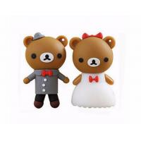 Quality cartoon bear pendrive bride groom pen drive 4gb usb flash drive  memory stick wedding gift for sale
