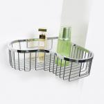 Bathroom Accessory Corner Basket Shelf Stainless Steel Easy Installation