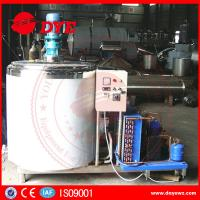 Buy Dairy Stainless Steel Milk Tank With Cooling System Control Panel CE certificated at wholesale prices