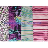 Quality Weft Cotton Poplin Elastic Stretch Fabric  Reactive Print  for Shirt and Dresses for sale