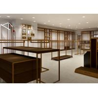 Buy Luxury Boutiques Retail Clothing Displays Antique Copper Brush Stain Steel at wholesale prices