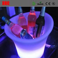 Quality Fashion Design Club LED Plastic Colorful Ice Bucket for sale