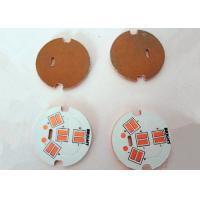 Quality White Round Copper Based PCB OSP Finish Black Silkscreen High Conductivity for sale