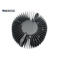 Quality 6063 - T5 Cooler / Radiator / Aluminum Heatsink Extrusion Profiles Black Anodized for sale