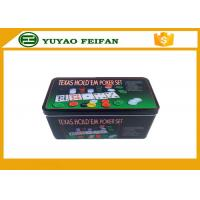 Quality 4g Plastic Poker Chips Sets Professional Poker Set Square Tin Box Packaging for sale