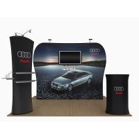 Quality 20 Feet Tension Fabric Exhibition Stands Fabric Tube Display Weather Resistant for sale