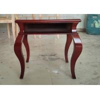 Quality Simple Hotel Bedside Table Plywood Table Top Bent Solid Wood Legs for sale