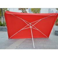 Quality Commercial Square Outdoor Umbrella Parasol , 2.7 M Garden Parasol With Logo Print for sale