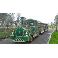 Quality European Mini 3 Carriages 60 Passengers Electric Trackless Train with Lead-acid Battery for sale