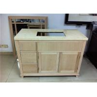 Buy cheap Home Bathroom Vanity Cabinet Mahogany Material With Three Drawers from wholesalers