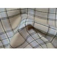 Quality Comfortable 100 Polyester Fabric / Yarn Dyed Plaid Fabric For Garments for sale