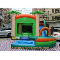Buy cheap Red Commercial PVC Tarpaulin Inflatable Water Slide With Pool Size 7 * 5m from wholesalers