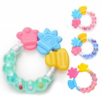 Buy cheap Food Grade Soft Silicone Baby Teether Chew Rattle Toy from wholesalers