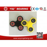 Quality Black / Yellow Hand Spinner Fidget Toy / Tri Spinner With 608 Bearings for sale
