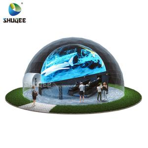 Quality Big Profit Business 14 People 5D Cinema Dome Projection Built On The Playground for sale