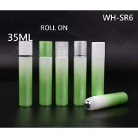 Quality 35ml gradual change color  cosmetic roll on bottle with stainless steel for sale