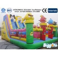 Quality Inflatable Trampoline Kids Inflatable Slides Animal Inflatable Double Lane Slip Slide for sale
