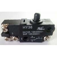 Quality Micro Electric Power Switch , Black Round Cap Push Button Power Switch AC for sale