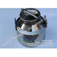 Buy cheap 15 Liter Double Walled Stainless Steel Milk Bucket High Strength For Beverage / from wholesalers