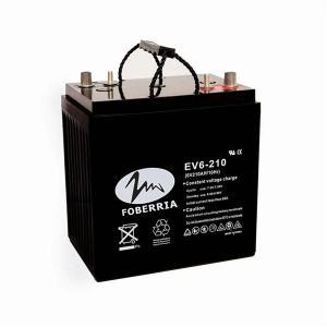 Quality Black Vrla 6v 210ah 400Ah EV Lead Acid Batteries For Mobility Scooters for sale
