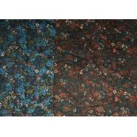 Quality Blue And Brown R/C Printed Stretch Velveteen Fabric 32/2*16+70D for sale