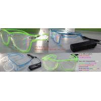Quality El Wire Plastic Diffraction Glasses With LED Lighting For Christmas Festival for sale