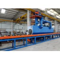 Quality Accurate Steel Pipe Shot Blasting Machine PLC Controls High Speed 4m / Min for sale