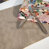 Quality Faux Straw,EVA,Rrey,green,gold,blue,Round,Rectangular,Woven Wipeable Cloth Placemats Rectangular for sale