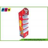Quality Corrugated Cardboard Floor Displays Stand With Four Shelves For BBQ FL203 for sale