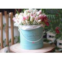 China Paperboard Round Flower Box Rose Flower Bouquet Hot Stamping Fancy Eco - Friendly on sale