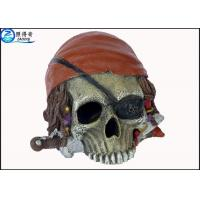 Quality Personalised Alien Skull Cool Fish Tank Decorations , Marine or Indoor Polyresin Aquarium Craft for sale
