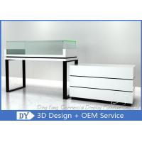 Buy cheap Retail Glass Wooden White Jewelry Counters / Jewerly Display Cases from wholesalers