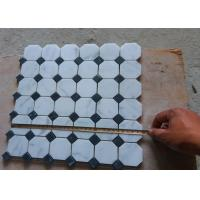 China White Carrara Octagon Natural Stone Mosaic Tile 2 X 2 High Density , Low Water Absorption on sale