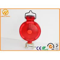 Traffic Barricade Lamp Solar LED Strobe Warning Lights Red Yellow Road Safety