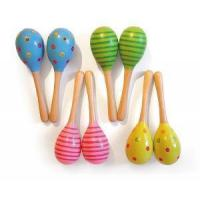 Quality Wooden Maracas, Wooden Musical Toys for sale
