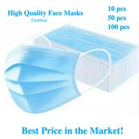 Quality Earloop Style Blue Non Woven Face Mask , Surgical Grade 3 Layer Face Mask for sale