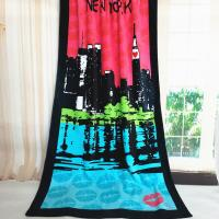 Quality Coloful Oversized Beach Towels Reactive Print With New York City Pattern for sale