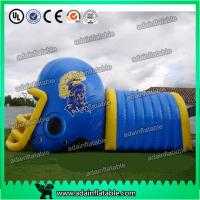 Quality Colorful PVC Inflatable Helmet Tunnel / Inflatable Football Helmet Tunnel for sale