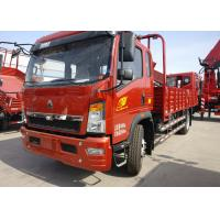Quality Red 6 Wheels HOWO Lightweight Truck Made Of High Strength Steel 115HP for sale