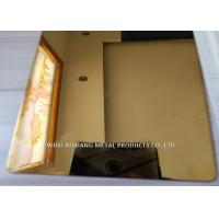 Quality Gold Mirror  Finish Stainless Steel Sheet 4x8 / SS 304 Sheet  For  Elevator Decoration for sale