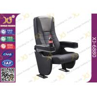 Quality Grey Longer Back Movie Chair Furniture / Cinema Theatre Seats for sale