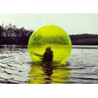 Quality Yellow / Blue Giant Inflatable Water Toys Human Water Bubble Ball for sale