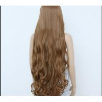 Quality Deep Curly Human Hair Wigs Medium Brown Color / unprocessed virgin human hair for sale
