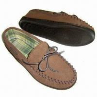 Quality Men's Shoes, Made of Cotton Lining, TPR Outsole and Cow Suede Upper for sale